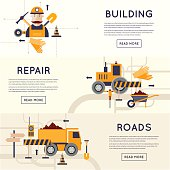 Road construction equipment.