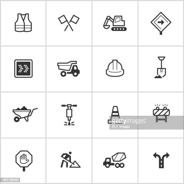 Road Construction Icons — Inky Series