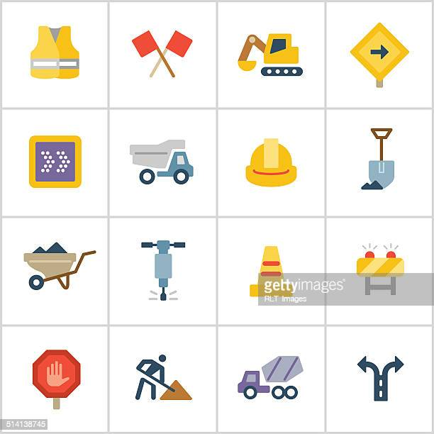 Road Construction Icons — Poly Series