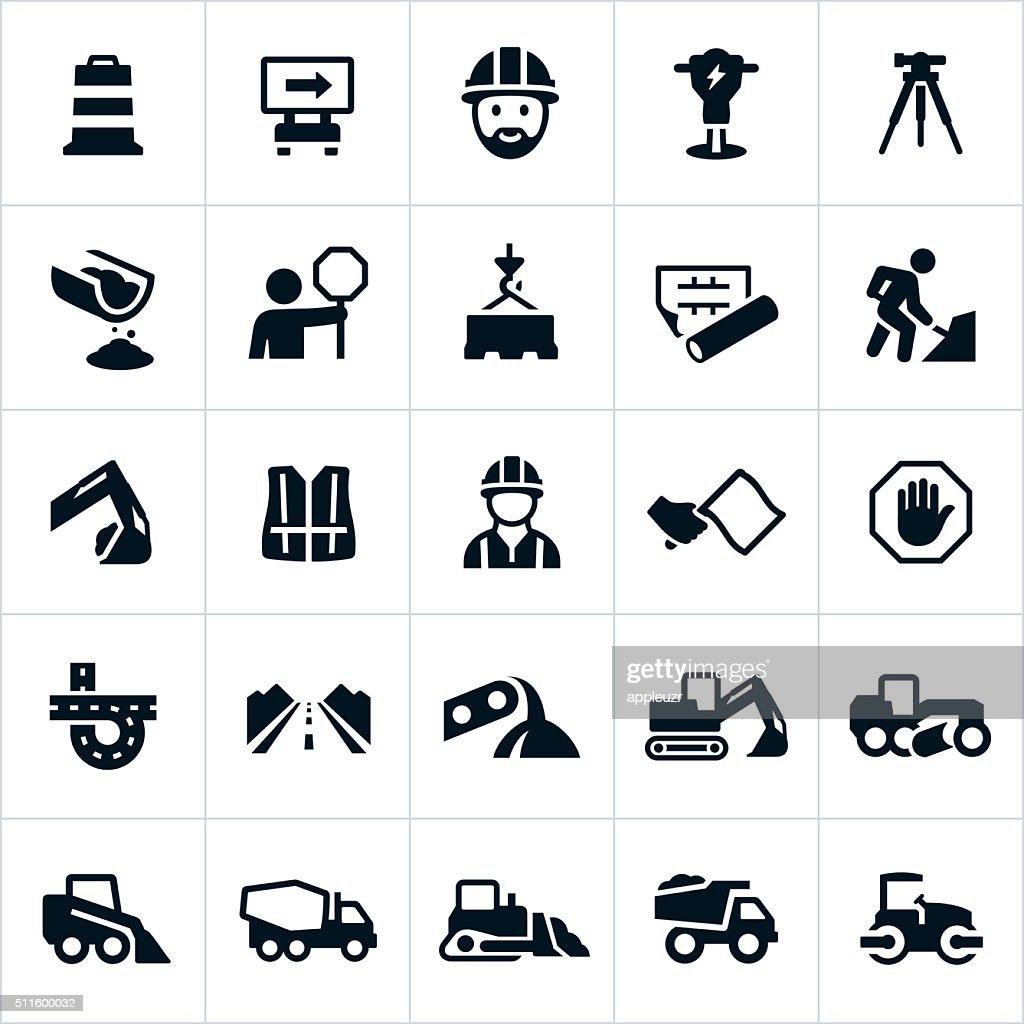 Road Construction Icons : stock illustration