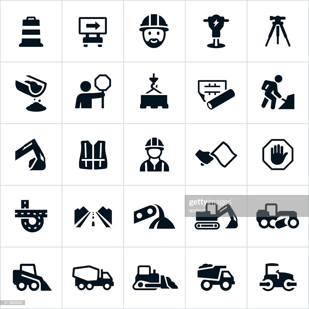 Road Construction Icons