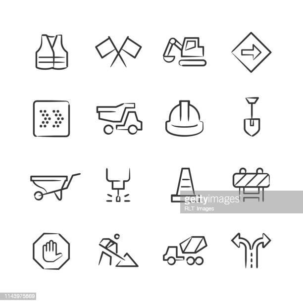 Road Construction Icons—Sketchy Series