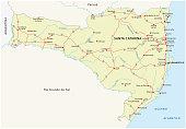 road map of the brazilian state santa catarina