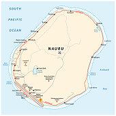 Road map of the Republic of Nauru