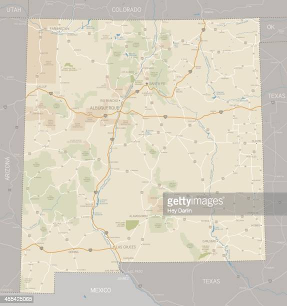 Road Map Of Arizona And New Mexico.60 Top New Mexico Stock Illustrations Clip Art Cartoons Icons