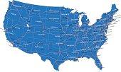 U.S.A. road map