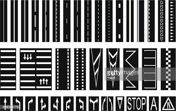 road markings - zebra crossing stock illustrations