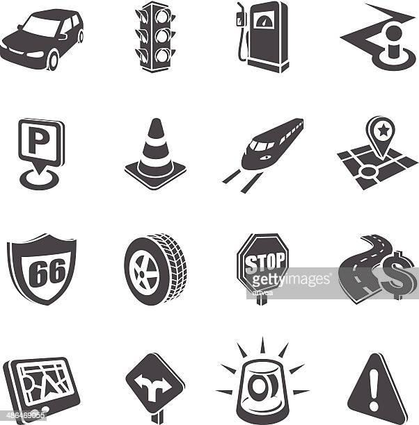 3 D conjunto de ícones de navegação de Estrada