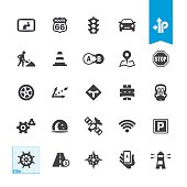 Road Navigation vector icons