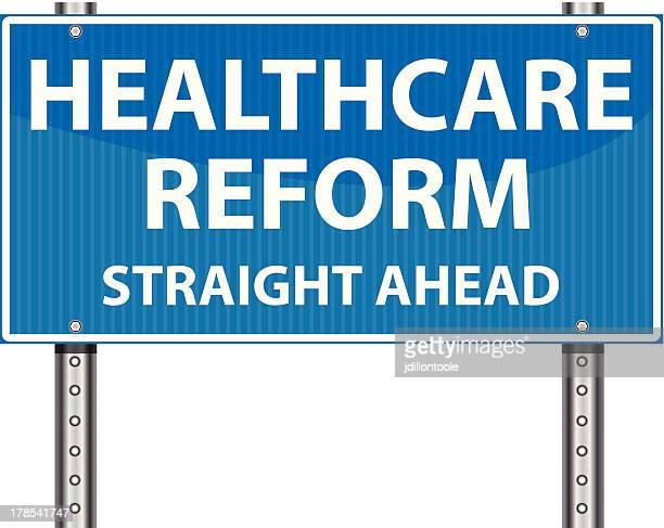 ilustrações, clipart, desenhos animados e ícones de sinal de estrada/reforma da assistência médica - reforma assunto