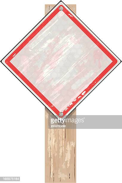 Road Sign | White Grunge