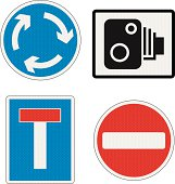 Road Signs UK with reflection detail