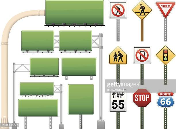 road signs - stoplight stock illustrations