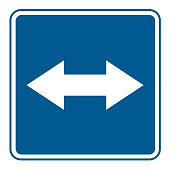 road signs vector. traffic sign. departure on a road with reversible motion.