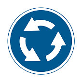 road signs vector. traffic sign. Roundabout.