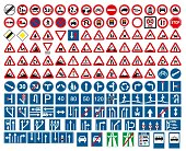 road signs vector. traffic sign.