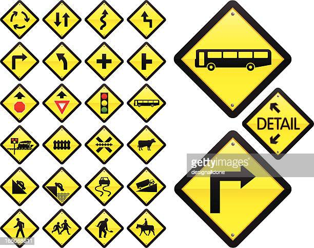 road signs: warning series (us/australia) - steep stock illustrations, clip art, cartoons, & icons