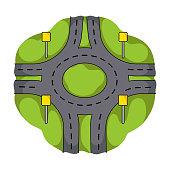 Road single icon in cartoon style.Road vector symbol stock illustration web.