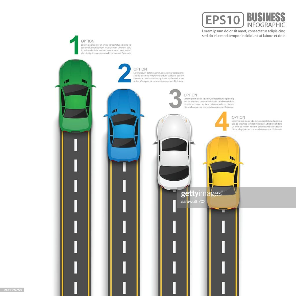 Road & Street Infographic Design Template,Vector Illustration