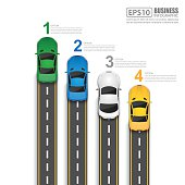 Road & Street Infographic Design Template,Vector Illustration