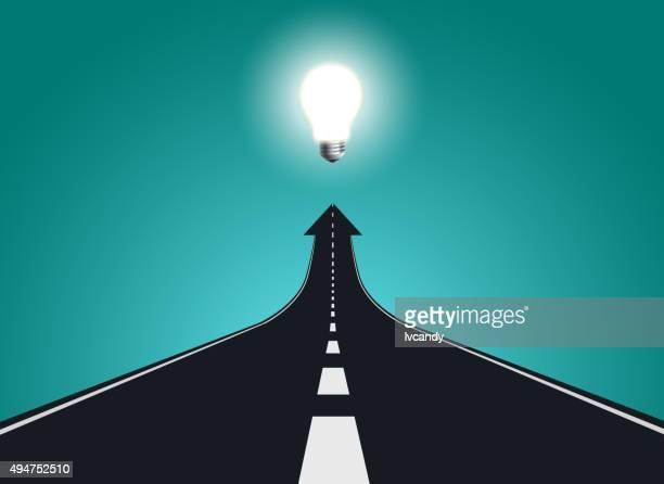 road to big idea - road stock illustrations, clip art, cartoons, & icons