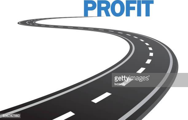 road to profit - letter s stock illustrations, clip art, cartoons, & icons