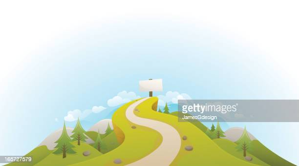 road to success landscape - thoroughfare stock illustrations, clip art, cartoons, & icons