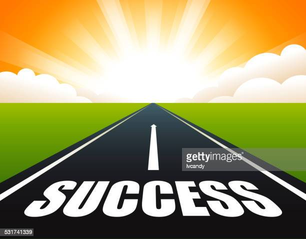 road to success - horizon stock illustrations, clip art, cartoons, & icons