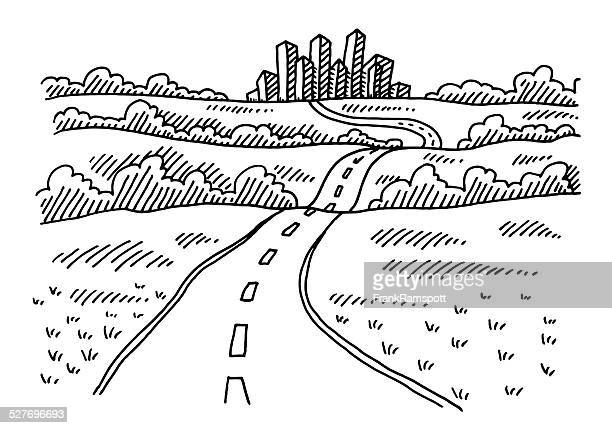 Road To The City Drawing