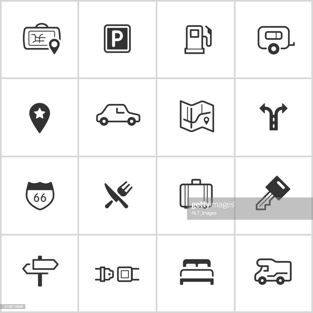 Road Trip Icons — Inky Series