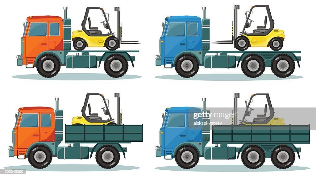 Road trucks, Vector