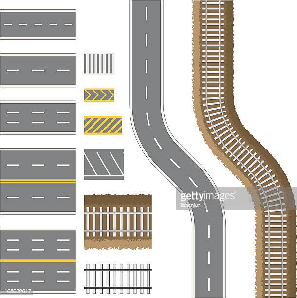 road - zebra crossing stock illustrations