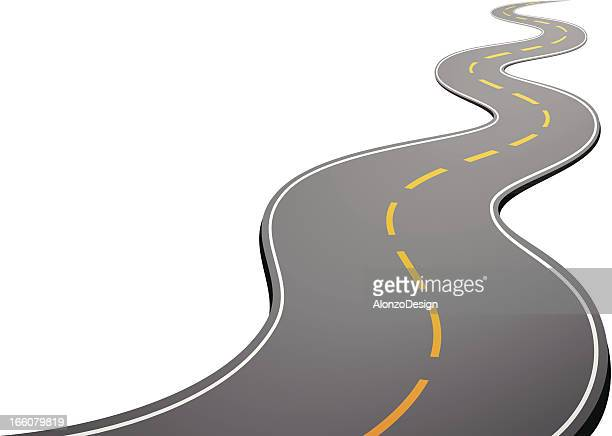 road - winding road stock illustrations