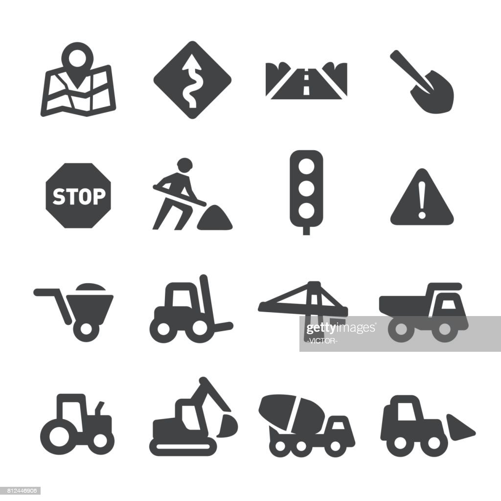 Road Work Icons - Acme Series