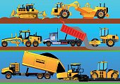 Road works. Detailed vector illustration