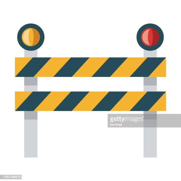 ilustrações, clipart, desenhos animados e ícones de ícone de bloqueio de estrada em fundo transparente - obstruir