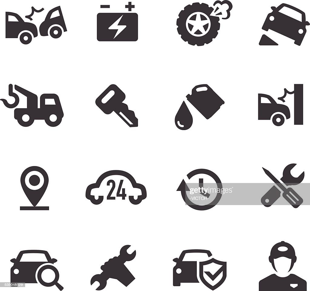 Roadside Services Icons - Acme Series : stock illustration