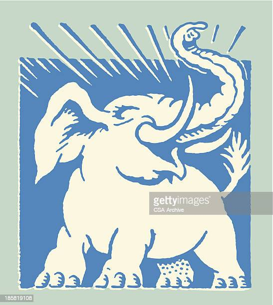 roaring elephant - us republican party stock illustrations