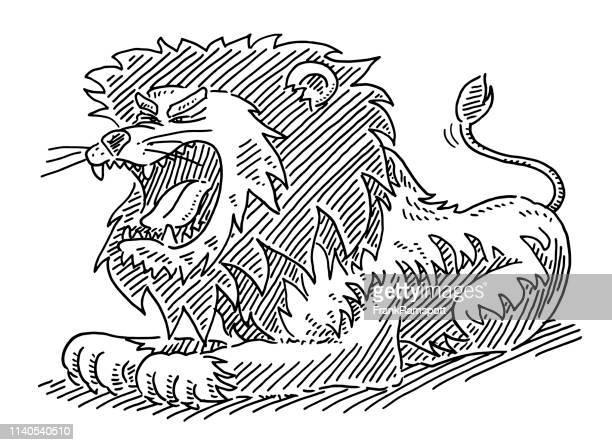 Gebürtige Löwen-Zeichentrickerei