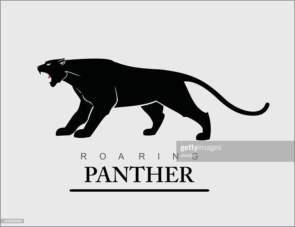 Roaring Panther. Elegant panther