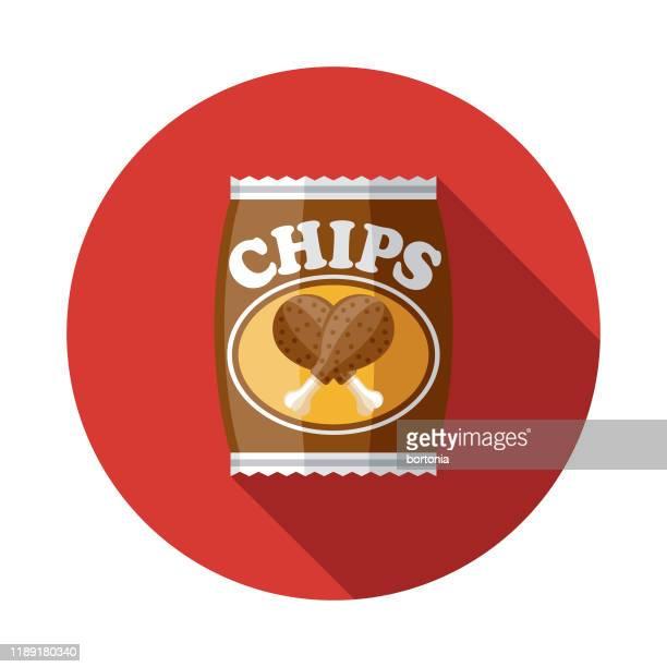 ilustraciones, imágenes clip art, dibujos animados e iconos de stock de icono de sabor de papa de pollo asado - pollo asado