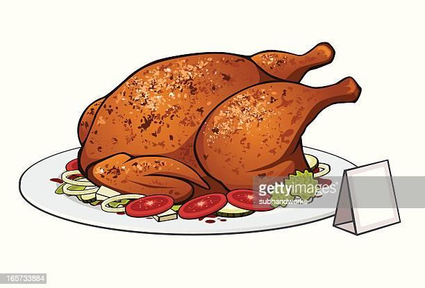 Illustrations et dessins anim s de poulet r ti getty images - Dessin de poulet ...
