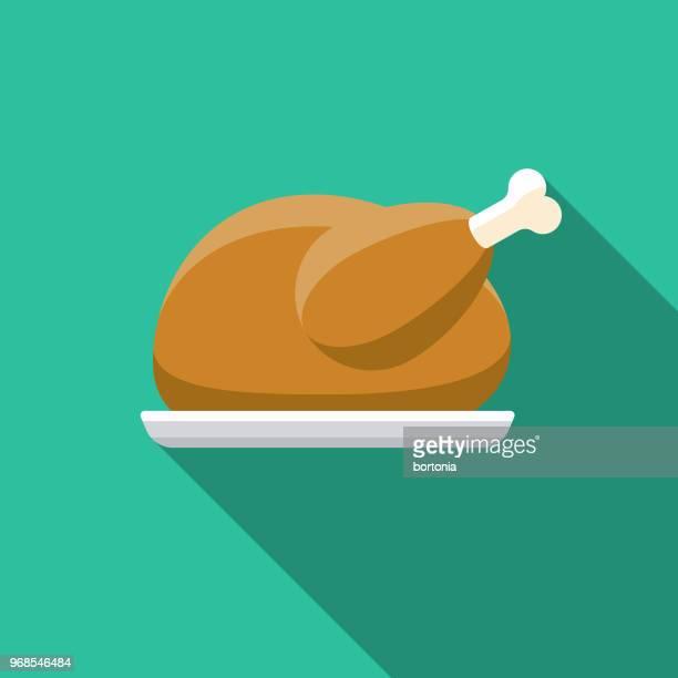 Roast Goose Flat Design Hanukkah Icon