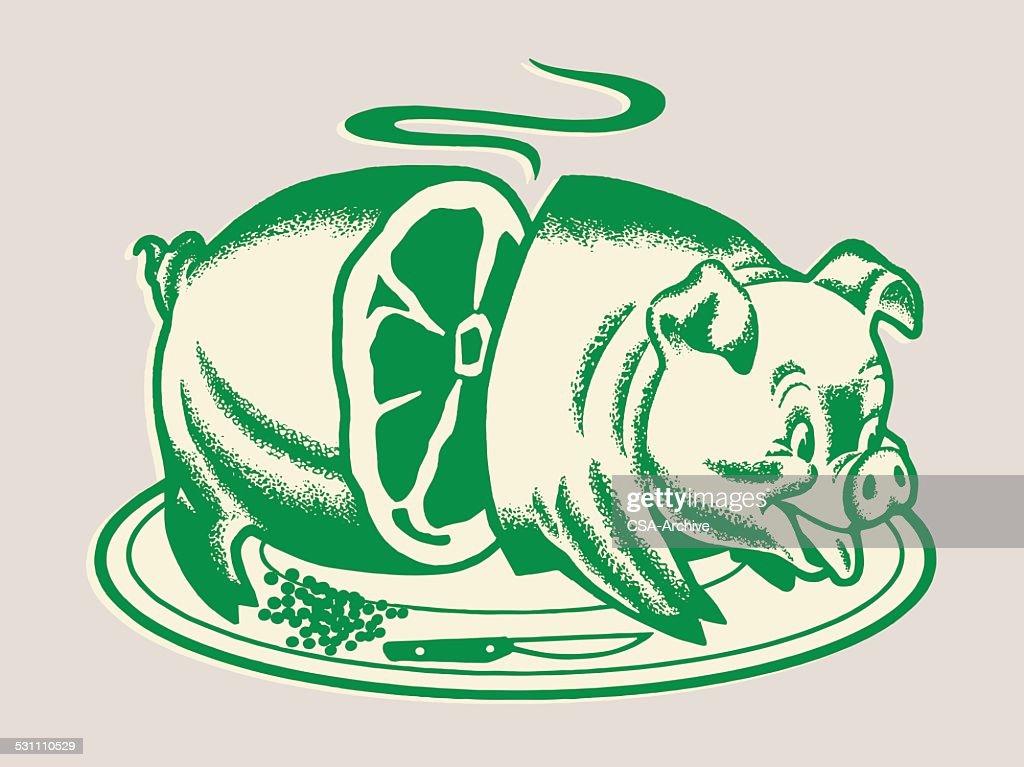 Roast Pig : stock illustration