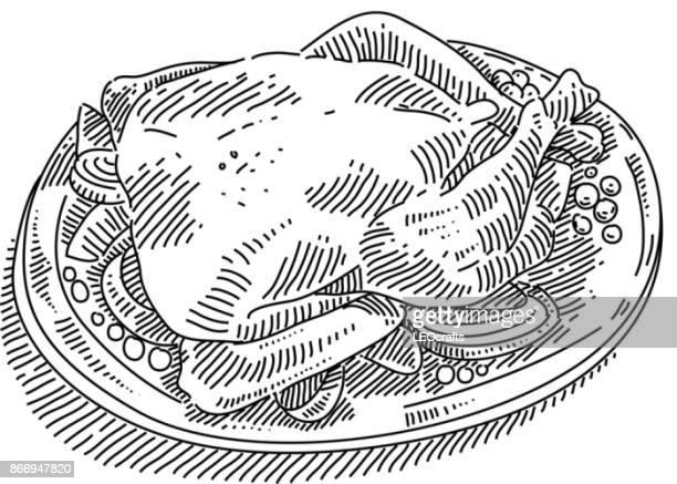Roast turkey Drwing