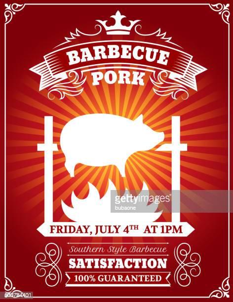 Roasted BBQ Pork Poster