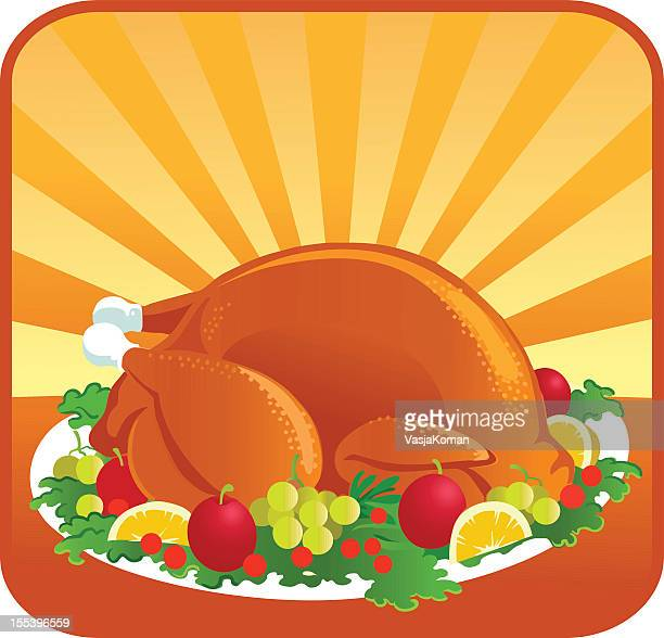 Roasted Thanksgiving Turkey with Garnish