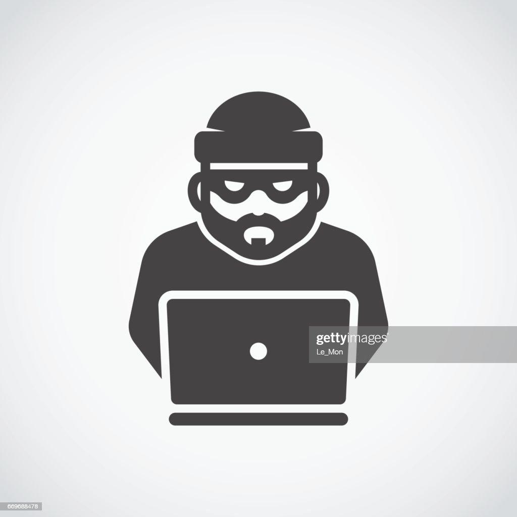 Robber icon. Bandit. Hacker