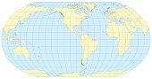 Robinson Map of the world America