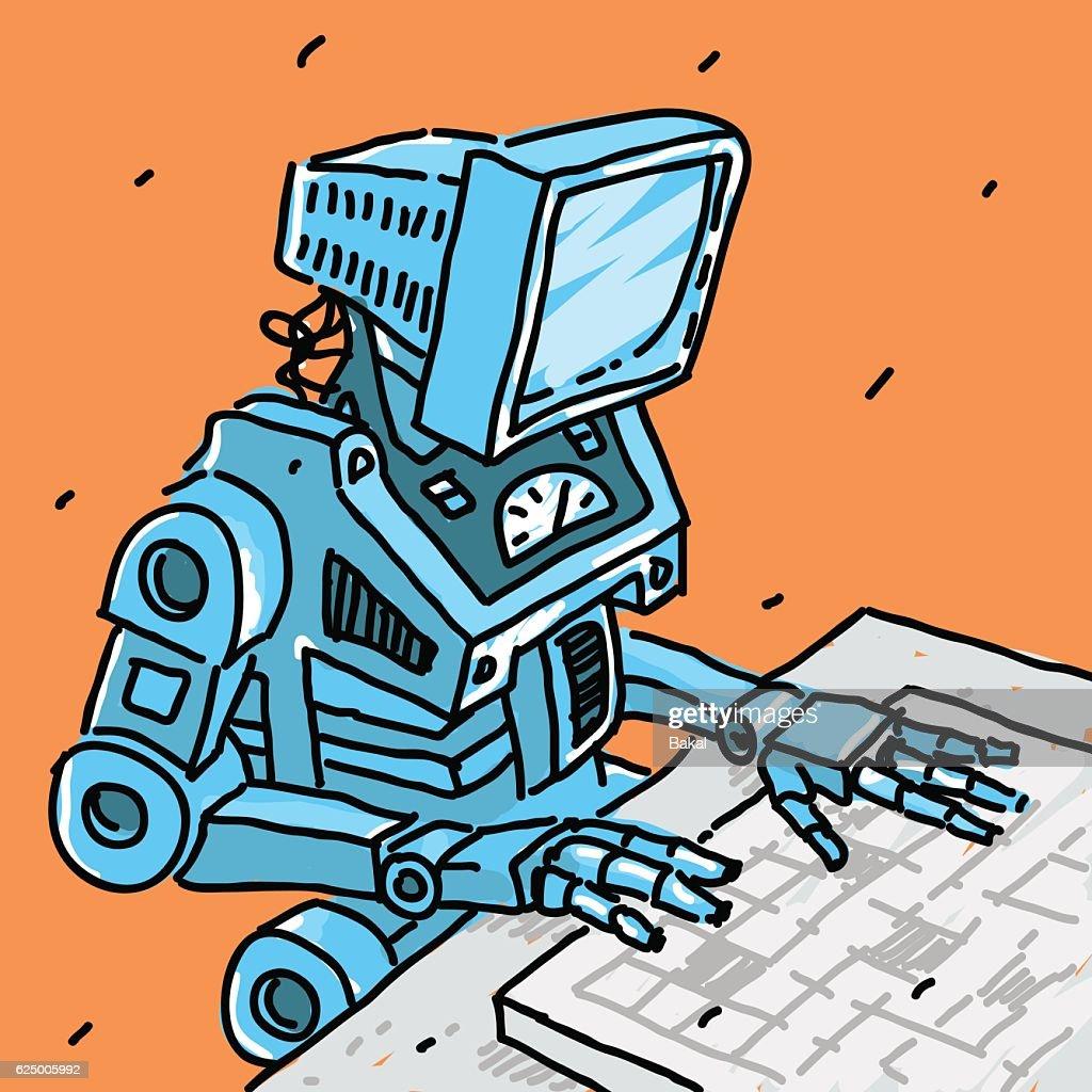 Robot and computer